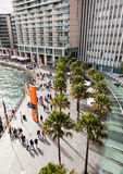 Promenade at Circular Quay, Sydney Royalty Free Stock Photos