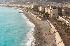 The Promenade at the City of Nice Royalty Free Stock Image