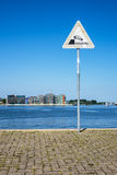 Promenade in the city port in Rostock Stock Images