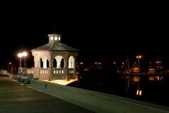 Promenade in Corpus Christi bij nacht stock foto's