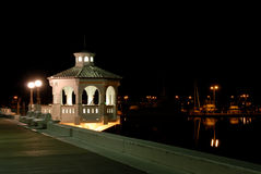 Promenade in Corpus Christi nachts stockfotos