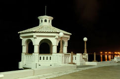 Promenade in Corpus Christi at night Stock Photos