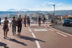 Promenade Cotiere in Nice, France. Stock Images