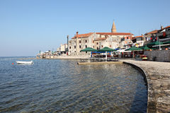 Promenade in Croatian town Umag Stock Photos