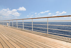Promenade cruise ship deck. Royalty Free Stock Photo