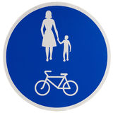 Promenade & Cycle Path Sign Stock Photography