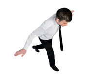 Promenade d'équilibre d'homme d'affaires Photo stock