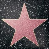 Promenade d'étoile de renommée Étoile hollywood Image stock