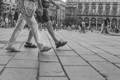 Promenade d'amants Photo stock