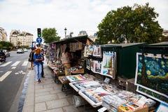 Promenade d'art de la Seine Photographie stock