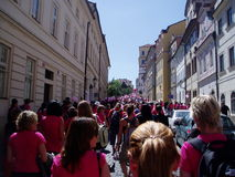 Promenade d'Avon à Prague Images libres de droits