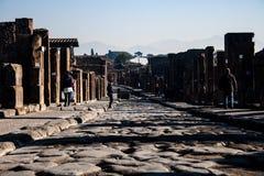 Promenade d'une région de Pompeii images libres de droits