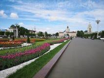 Promenade dans l'ENEA de parc à Moscou photo libre de droits