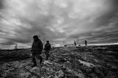 Promenade dans la toundra Images libres de droits