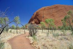 Promenade de base d'Uluru Image libre de droits