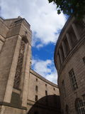 Promenade de bibliothèque, Manchester R-U Image stock