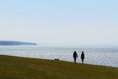Promenade de bord de la mer Photographie stock