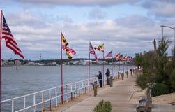 Promenade de bord de mer dans la ville d'océan, le Maryland Photos libres de droits