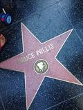 Promenade de Bruce Willis Hollywood d'étoile de renommée photo stock