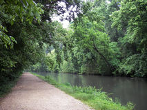 Promenade de canal Photo stock