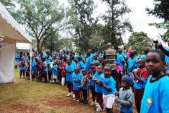 Promenade de charité d'hospice de Nairobi image stock
