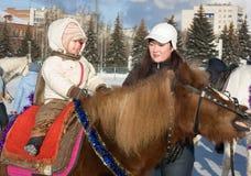 Promenade de cheval Photographie stock