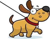 Promenade de chien de bande dessinée Image libre de droits