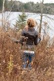 Promenade de chute Photographie stock libre de droits