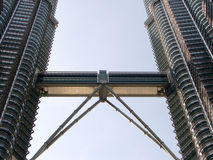 Promenade de ciel de Tour jumelle de Petronas Photographie stock