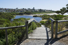Promenade de conseil, embouchure de Hindmarsh, Victor Harbor, Fleurieu Penin Image libre de droits