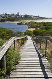 Promenade de conseil, embouchure de Hindmarsh, Victor Harbor, Fleurieu Penin Photographie stock