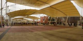 Promenade de Decumano, EXPO Milan 2015 Photographie stock libre de droits