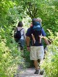 Promenade de famille Image stock