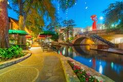 Promenade de fleuve à San Antonio, le Texas image libre de droits
