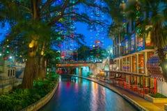 Promenade de fleuve à San Antonio, le Texas photo stock