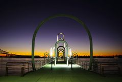 Promenade de fleuve de Baton Rouge Photo stock