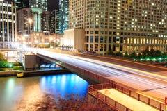 Promenade de fleuve de Chicago Images libres de droits