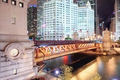 Promenade de fleuve de Chicago Photographie stock