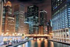 Promenade de fleuve de Chicago Photos libres de droits