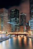 Promenade de fleuve de Chicago Image stock