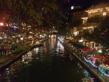 Promenade de fleuve de San Antonio Images stock