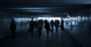 Promenade de gens Photographie stock