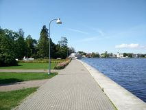 'promenade' de Haapsalu Imagenes de archivo