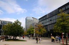 Promenade de Hambourg - de Hafencity Photo libre de droits