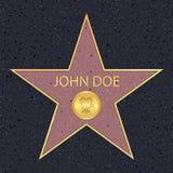 Promenade de Hollywood d'étoile de renommée pour l'acteur de film Trottoir célèbre avec le symbole de récompense de célébrité Vec illustration libre de droits