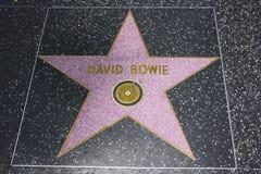 Promenade de Hollywood de la renommée - David Bowie Photographie stock libre de droits