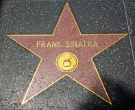 Promenade de Hollywood de la renommée - Frank Sinatra Photos stock