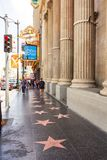 Promenade de Hollywood de la renommée Images stock