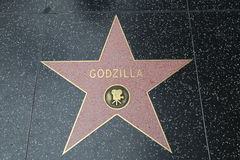 Promenade de Hollywood de la renommée - Godzilla Photographie stock