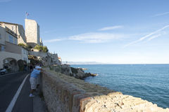 Promenade de l'Amiral de Grasse, Antibes, France Stock Photography